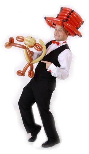 Der Luftballonkünstler für Firmenfeier, Tag der offenen Tür oder Eröffnung